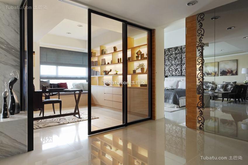 现代简约玻璃门设计