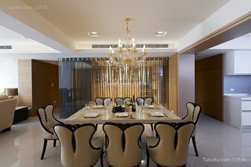 现代装修餐厅展示案例