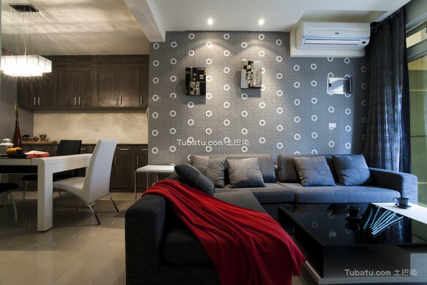 现代灰色之家两居室装修
