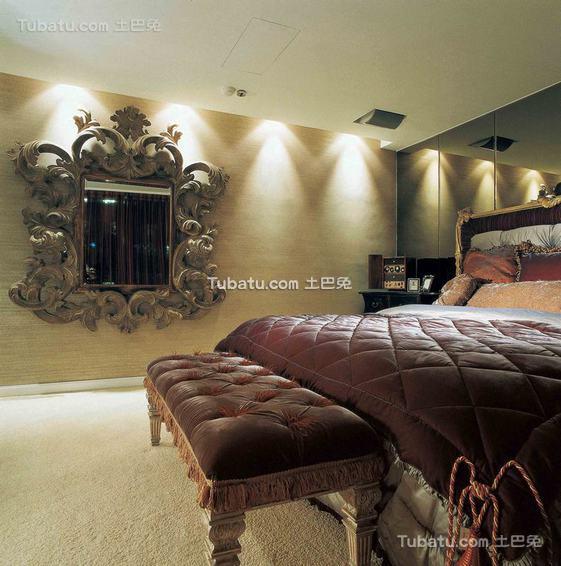 欧式风格别墅卧室室内装修图片