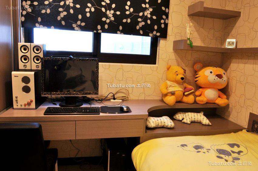 家装设计儿童房书房效果图