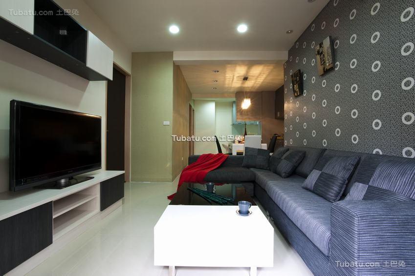 现代灰色之家客厅装修