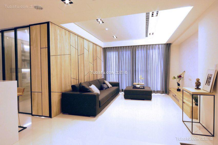 2018现代日式风格两室两厅设计效果图
