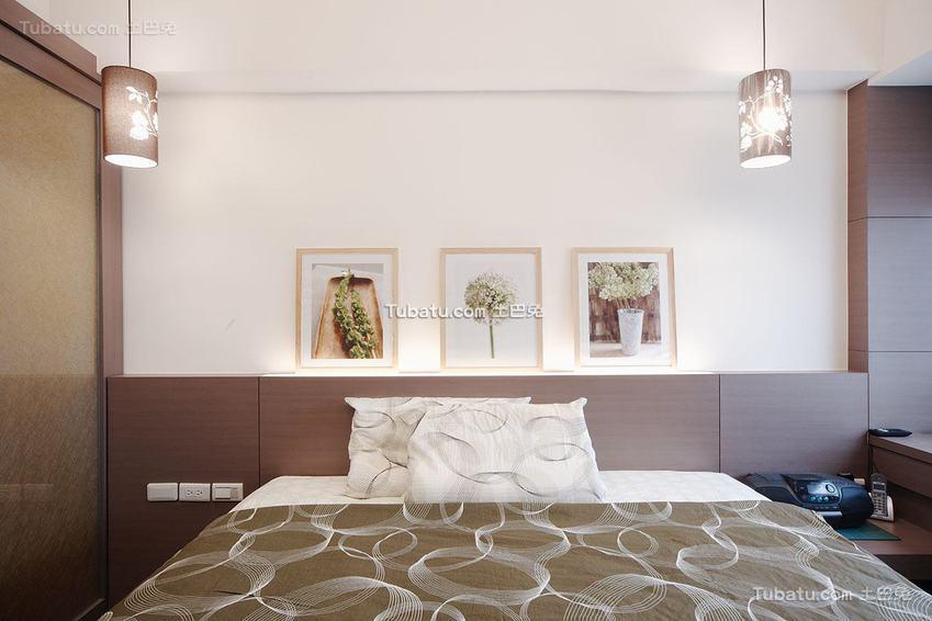 现代卧室床头装饰