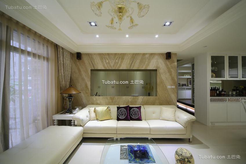 美式沙发背景墙设计图