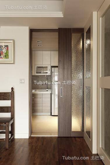 日式厨房隔断门设计