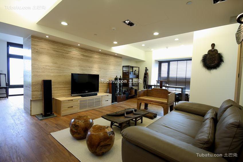 古风混搭两居室装修案例