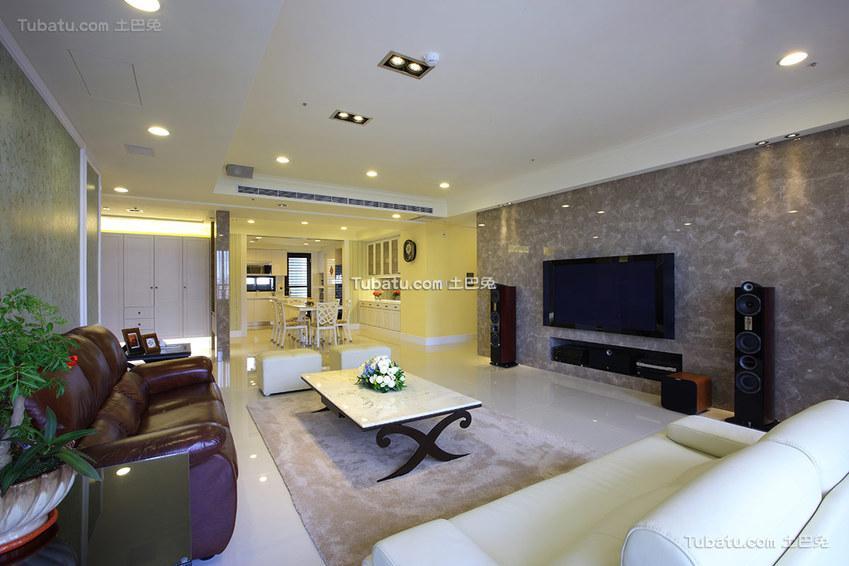 135平米现代风格四居室装修设计图片