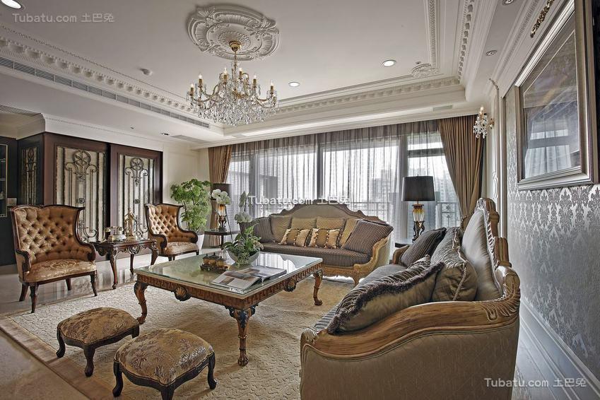 欧式客厅装饰图