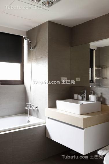 美式浴室洗手台设计