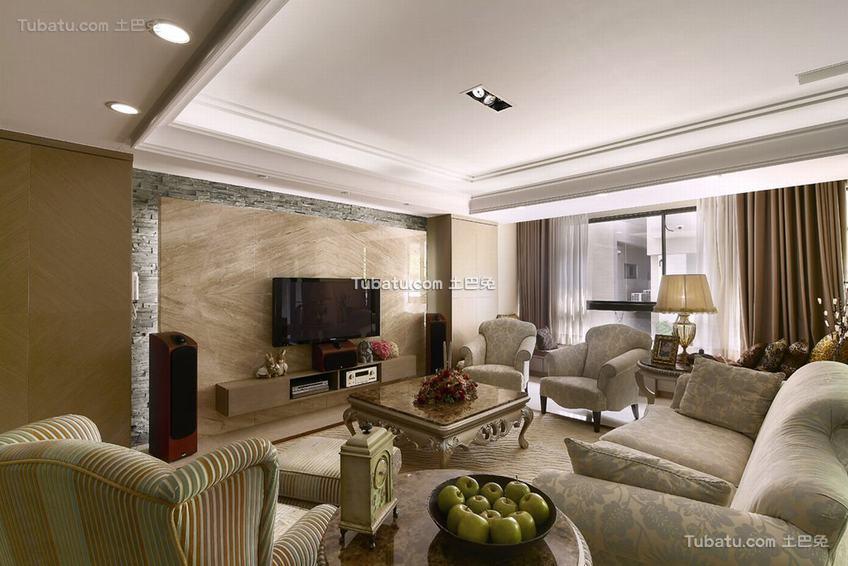 最新现代风格三室一厅室内设计图片