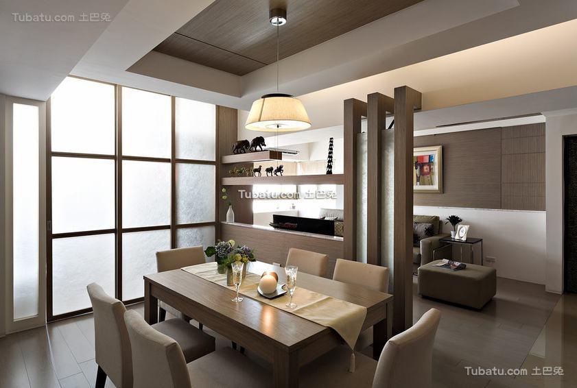 美式餐厅博古架隔断设计