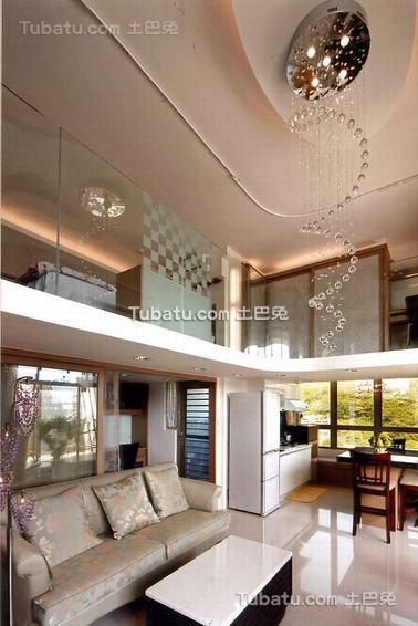 现代跃层吊顶设计