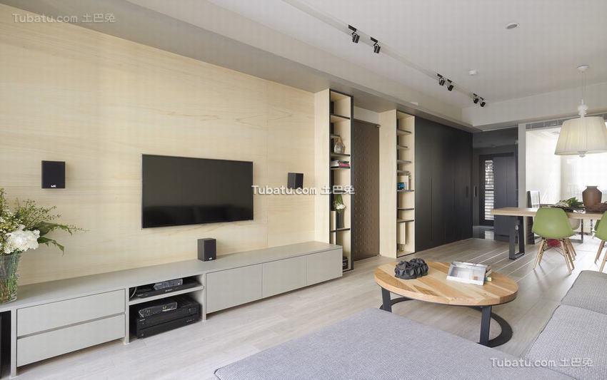 简约式电视背景墙装修效果图大全