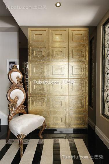 简欧风格别墅室内衣柜装饰设计图片