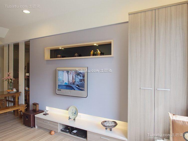 2015简约装修电视背景墙