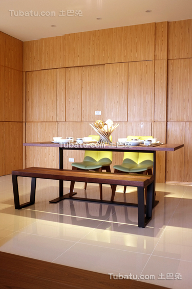 现代中式餐厅背景墙