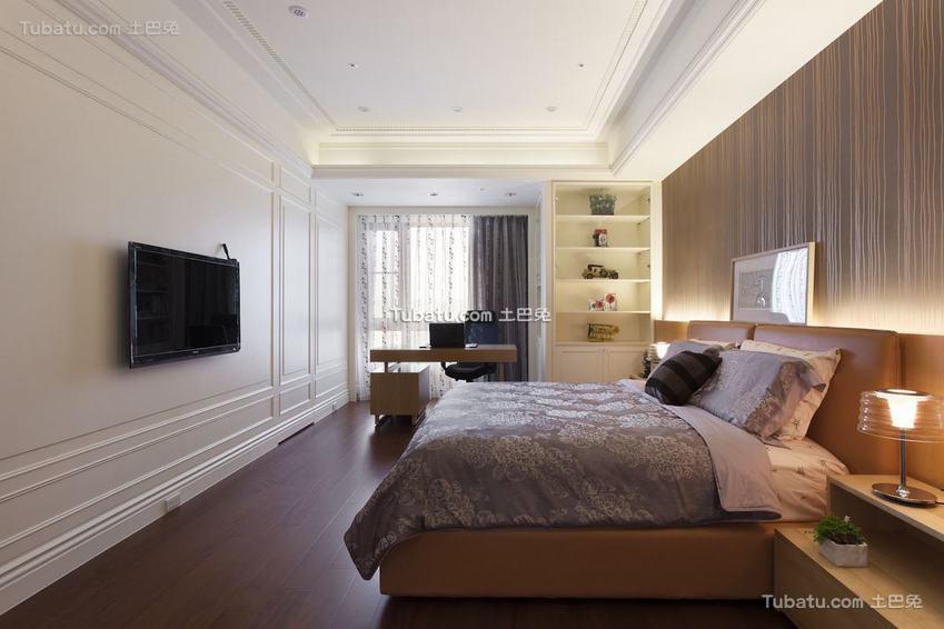 美式卧室电视背景墙装修