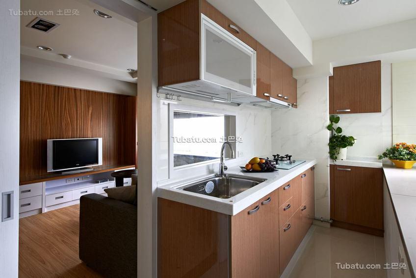 90平米家装现代美式二居室装修