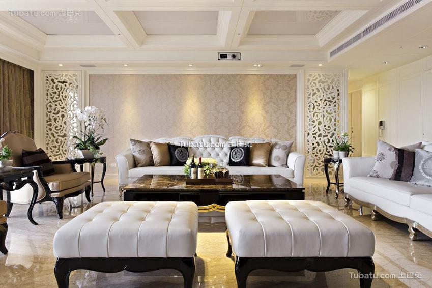美式精美沙发背景墙设计