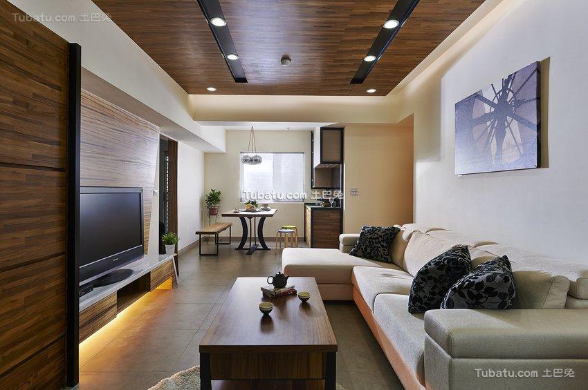 现代建业时尚三居室图片欣赏