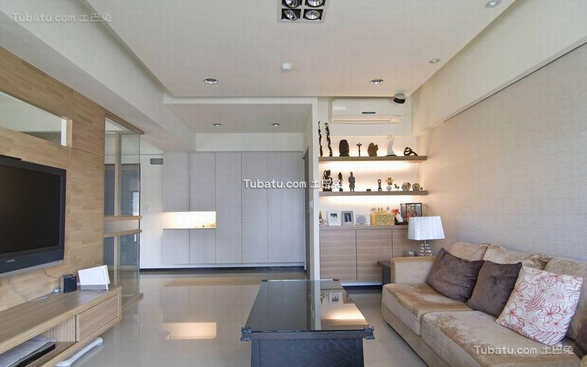 现代两居室装修示例效果图