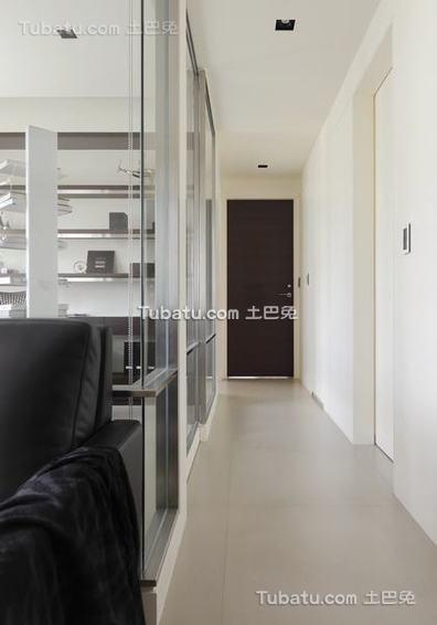 简约单身公寓室内过道设计图片