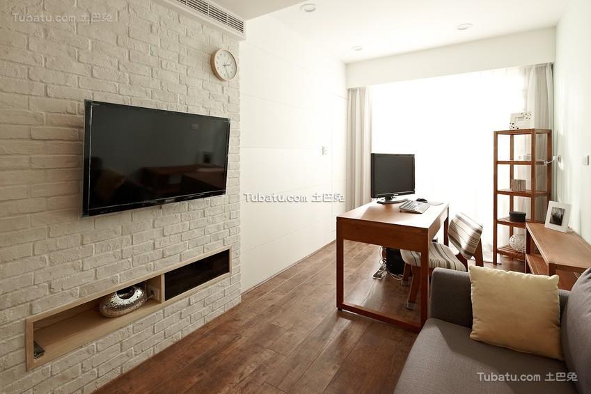 田园装饰室内电视背景墙