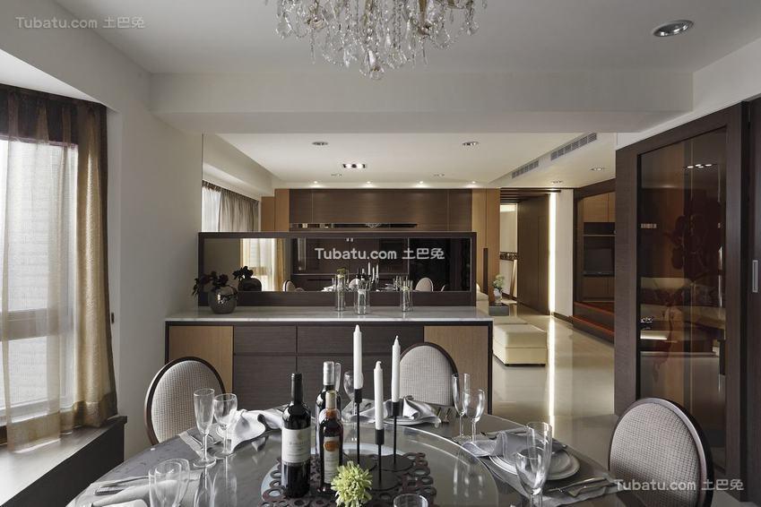 现代风格餐厅隔断柜设计
