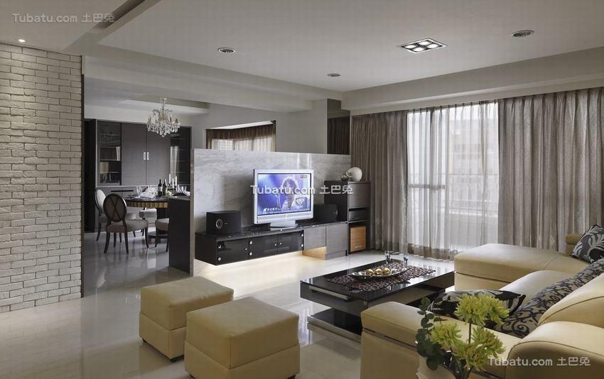 现代风格电视背景墙设计装修