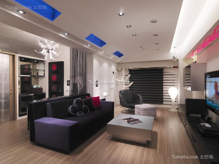 现代家居两居室设计效果图