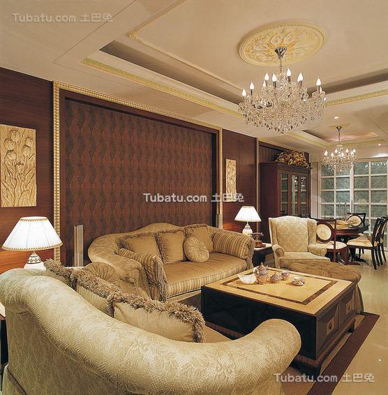 美式三居室装修案例展示