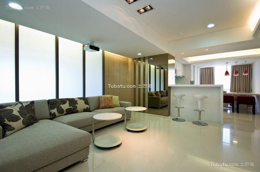 现代风格宽敞四居室室内效果图片