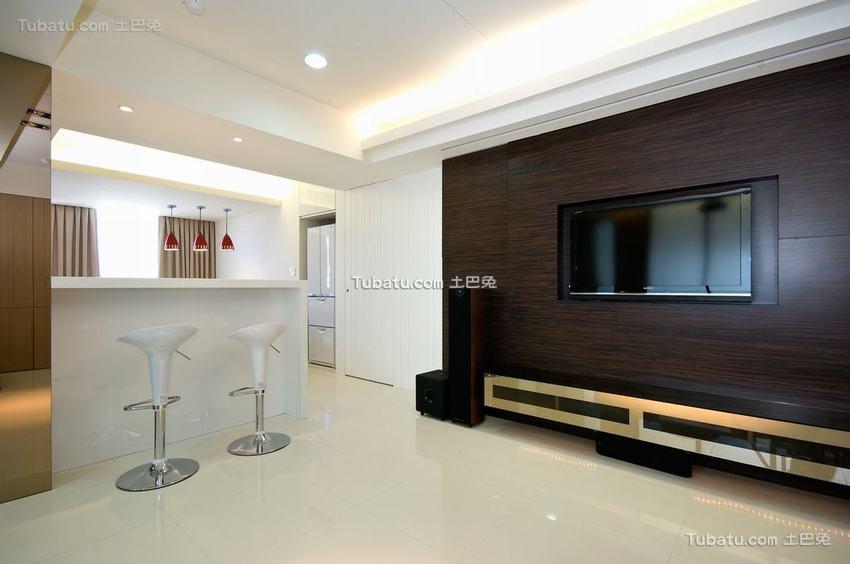 现代风格电视背景墙室内效果图片