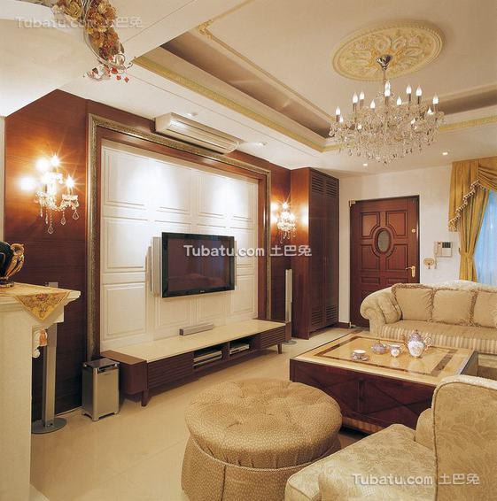 美式客厅装修案例展示