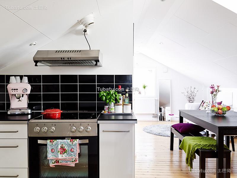 北欧装修厨房瓷砖