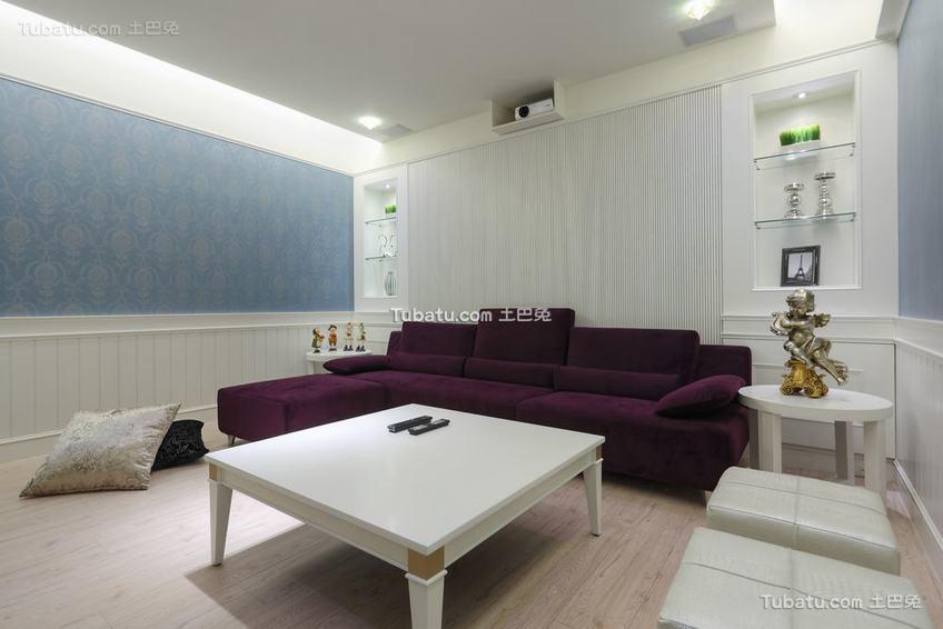 北欧风格客厅沙发装修图片