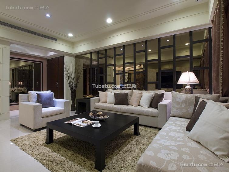 优雅现代风格三居室室内装修图片