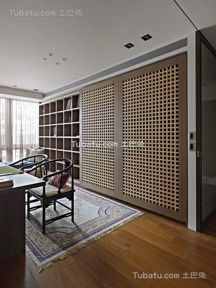 现代复古书房隔断室内装饰图片