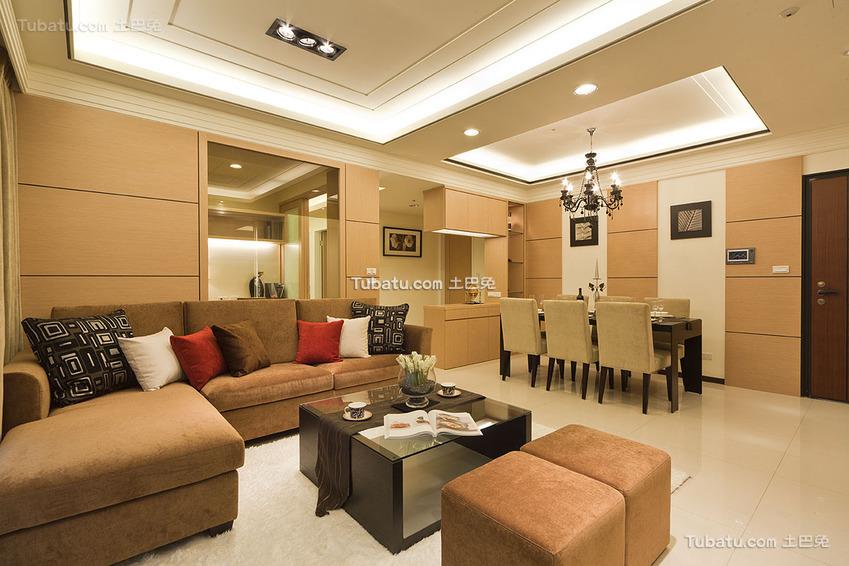 现代美居两居室装修效果图