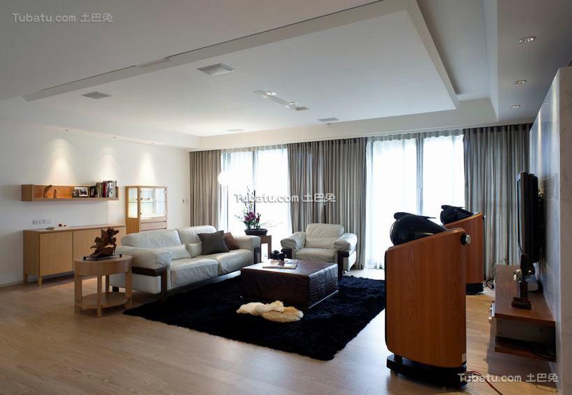 最新现代简单四居室客厅装修图片欣赏