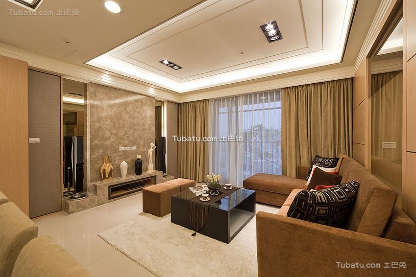 现代美居客厅装修案例