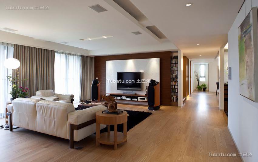 现代简单四居室室内装修图片