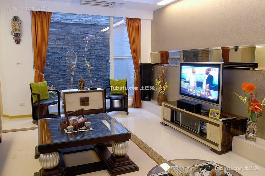 现代电视背景墙装修图效果