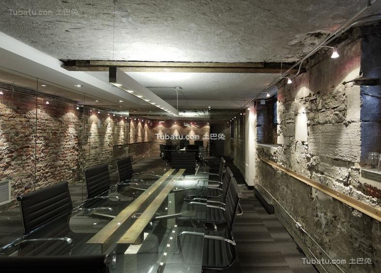 现代复古会议室装饰效果图片