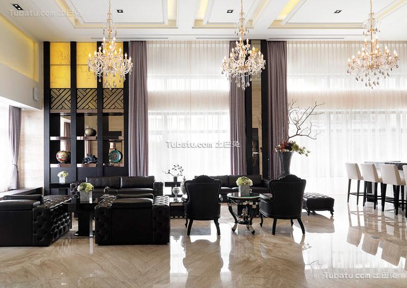 时尚现代风格客厅装修效果