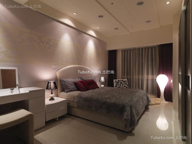 时尚优雅现代卧室展示