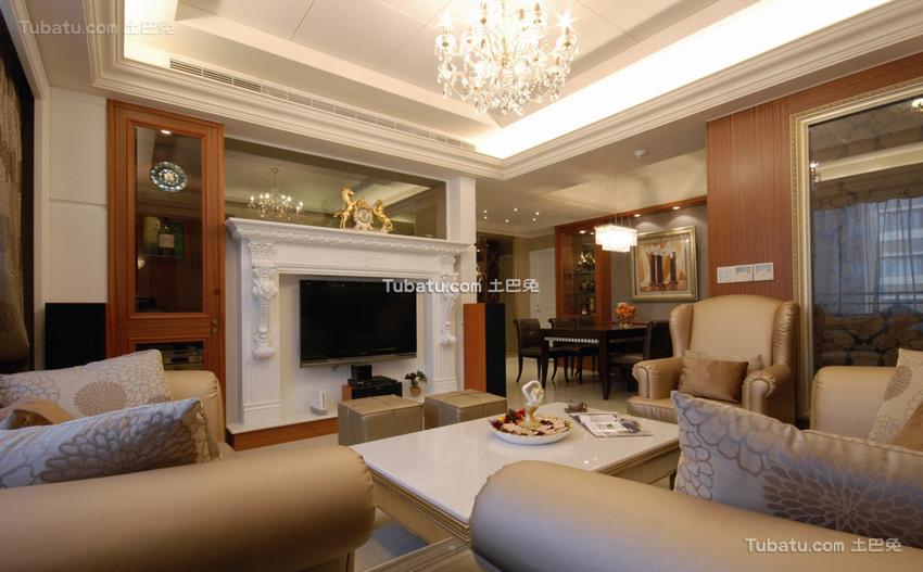 华丽新古典二居室装修效果图