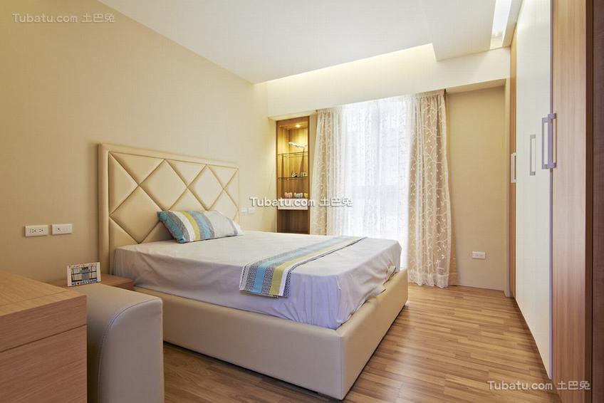 现代自然休闲卧室展示