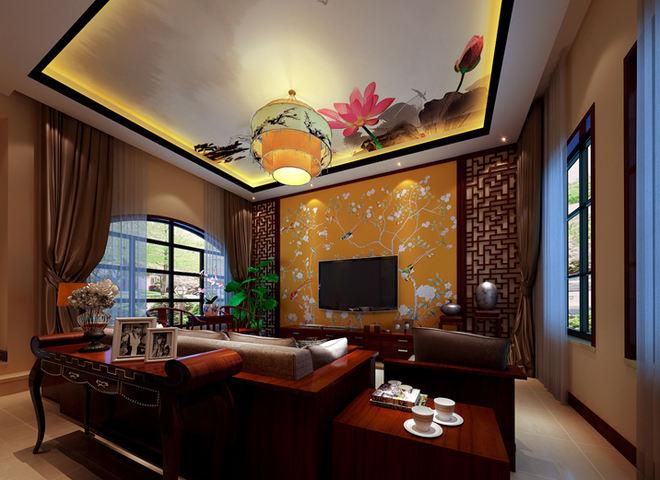 热门面积124平中式四居装修效果图片欣赏